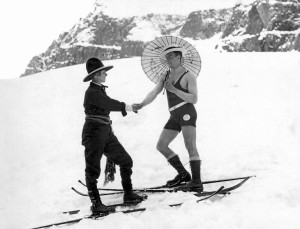 Unusual Meeting On The Slopes