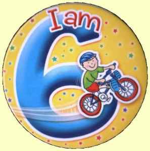 6th Birthday Badge Bike